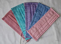 Adult Face Masks- Shades of Pastel 5 Pack- $45.00 Individually $10.00 each or $9.00 each for 5 or more. Copy