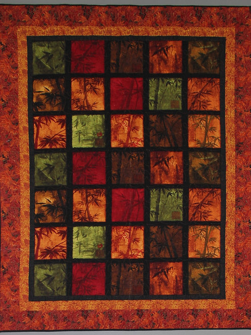 Autumn Leaves Lap/ Couch/Twin Quilt