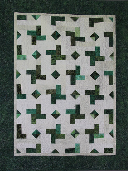 Twin/Lap/Single quilt Pieces of Eight