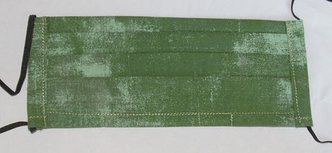 PPE 3 Layer Face Mask- Green Scratch