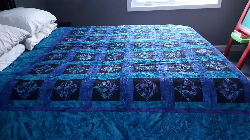 Digital quilting joyquilts pattern batik fabric