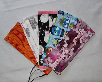 Adult Face Masks- whimsical Collection 5 Pack- $45.00 or Individually $10.00 each, $9.00 for 5 or more.