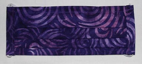 PPE 3 Layer Face Mask- Purple Swirl