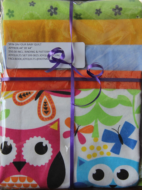 Spin on Four Baby Quilt