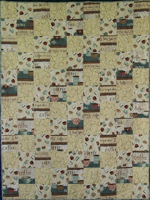 CoffeeTime Quilt Lap/Twin