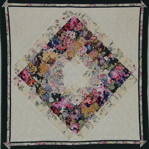 Wallhanging Water colour wreath Quilt