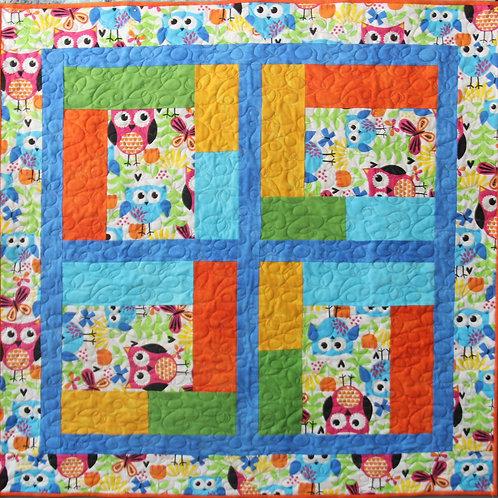 Flannel Garden Baby Quilt