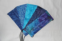 Adult Face Masks- Shades of blue 5 Pack - $45.00 . $10.00 each or $9.00 each for 5 or more.