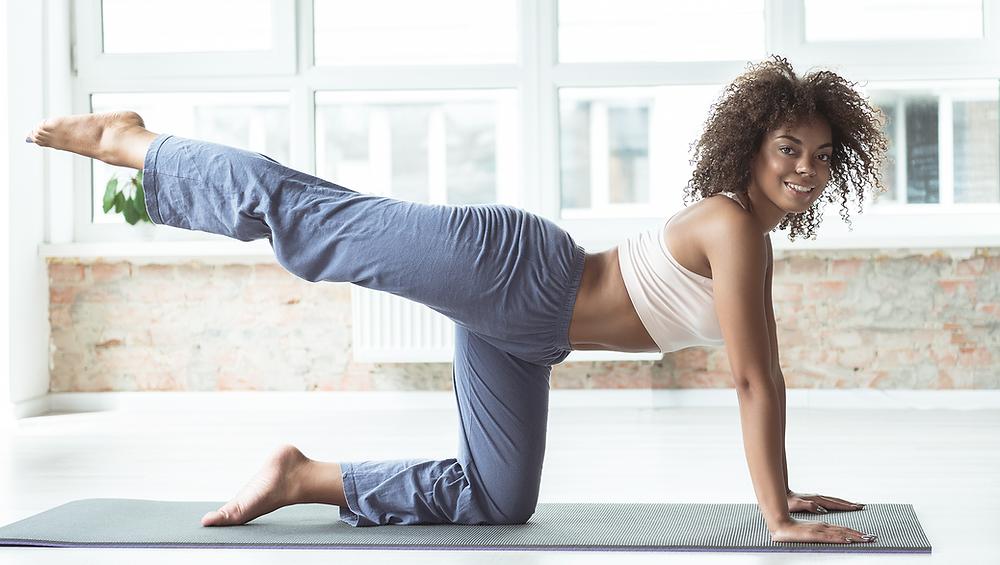 toning yoga exercise