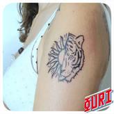 Tigre Soleil  Ouri tatouage La Rochellle