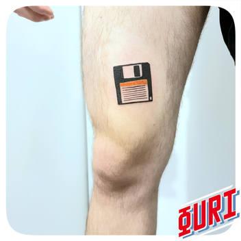 tatouage disquette