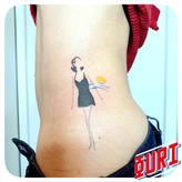 Baigneuse Ouri tatouage La Rochellle