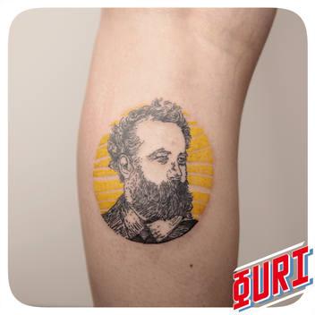 Tatouage Jules Verne