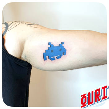 tatouage Space Invader