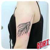 Feuille de palmier  Ouri tatouage La Rochellle