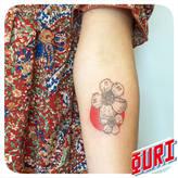 Fleur de cerisier  Ouri tatouage La Rochellle