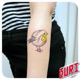 Oiseau  Ouri tatouage La Rochellle
