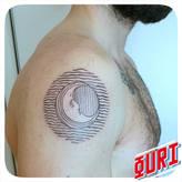 Lune gravure  Ouri tatouage La Rochellle