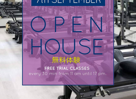 Open House               無料体験ピラティスクラス     Free trial Pilates Classes