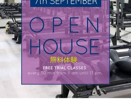 Open House               無料体験ピラティスクラス     Free trial Pilates Classes