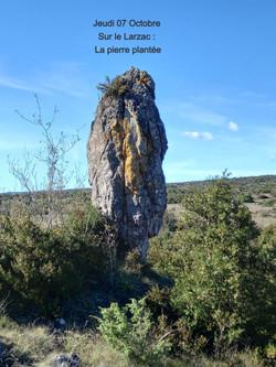Jeudi 07 Octobre : Rando Douce La pierre plantée