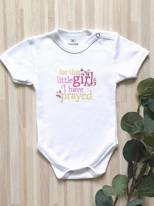Hímzett body - For this little girl, I have prayed