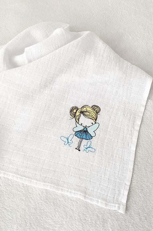 Hímzett textilpelenka - Tündér pillangókkal