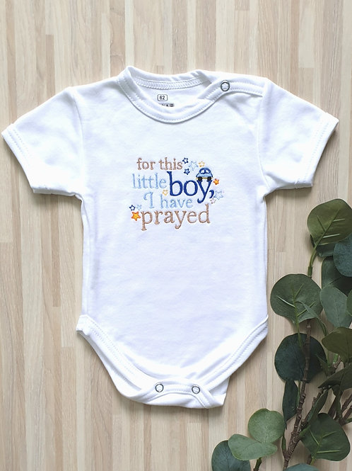 Hímzett body - For this little boy, I have prayed