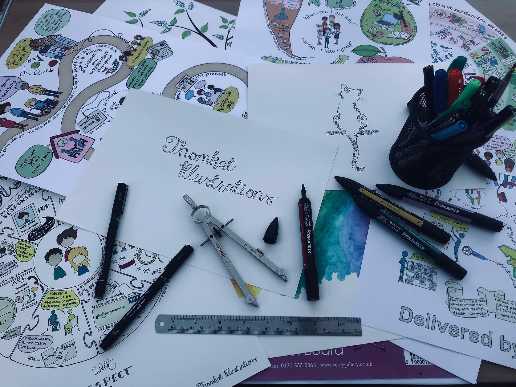 bespoke hand drawn infographics hampshire