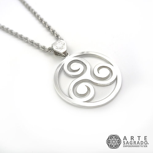 Collar TRISKEL plata  .925