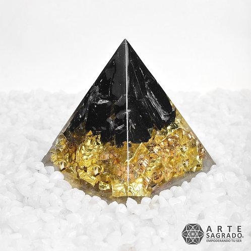 Orgonita pirámide  #EQUINOCCIOS cuarzo turmalina negra