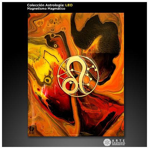 """Pintura Abstracta """"Magnetismo Magmático"""""""