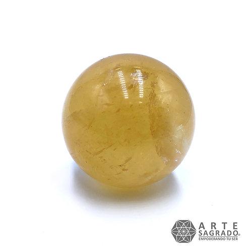 Esfera cuarzo calcita dorada