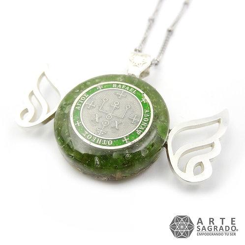 Mini collar orgón ARCÁNGEL RAFAEL cuarzo aventurina verde