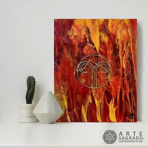 """Pintura Abstracta """"Flama Creadora"""""""