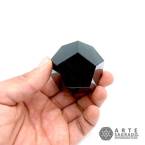 Set Sólidos Platónicos Jumbo Obsidiana Negra