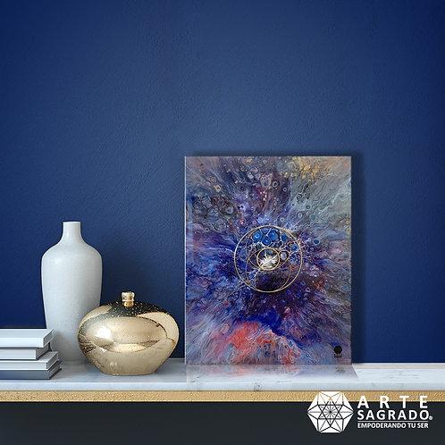 """Pintura Abstracta VESICA PISCIS """"Explosión primigenia"""""""