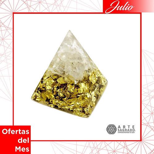 Orgonita pirámide EQUINOCCIOS cuarzo cristal