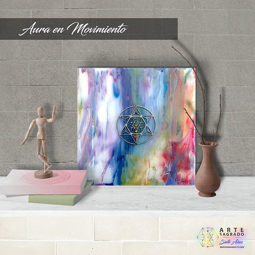 """Pintura Abstracta """"Aura en Movimiento"""""""
