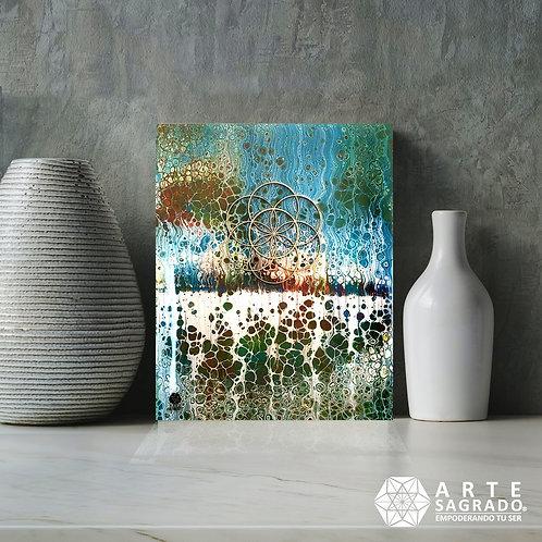 """Pintura Abstracta SEMILLA DE LA VIDA """"Infusión de Vida"""""""""""