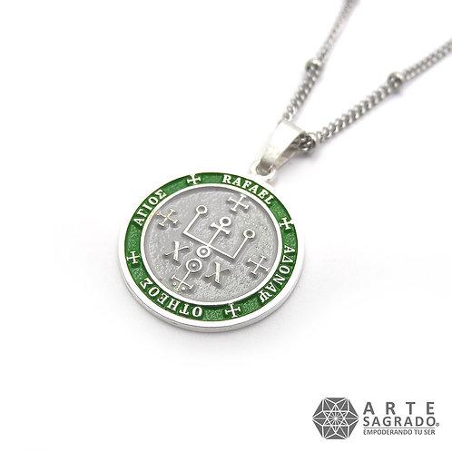 Medallita ARCÁNGEL RAFAEL plata 0.925
