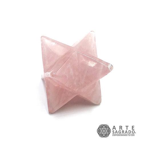 ESTRELLA MER-KA-BAH JUMBO 3D CUARZO ROSA