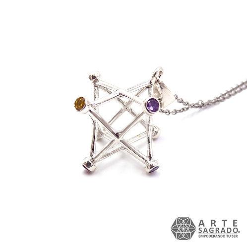 Collar MER-KA-BAH 7 CHAKRAS plata 0.925