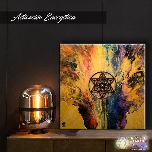 "Pintura Abstracta ""Activación energética"""