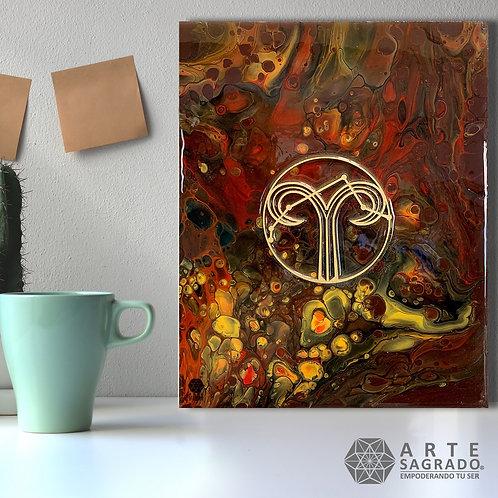 """Pintura Abstracta """"Primer Movimiento"""""""