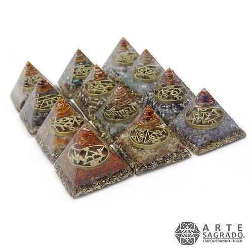 Set de orgonitas pirámide 12 signos Zodiacales