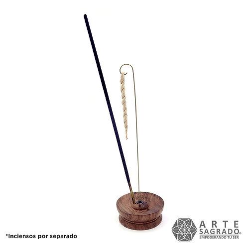 Porta inciensos para inciensos de cuerda