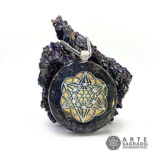 Collar de poder orgón MER-KA-BAH cuarzo silicio