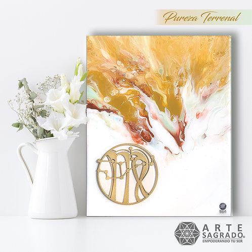 """Pintura Abstracta """"Pureza Terrenal"""""""