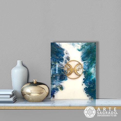 "Pintura Abstracta ""Aura Cristalina"""